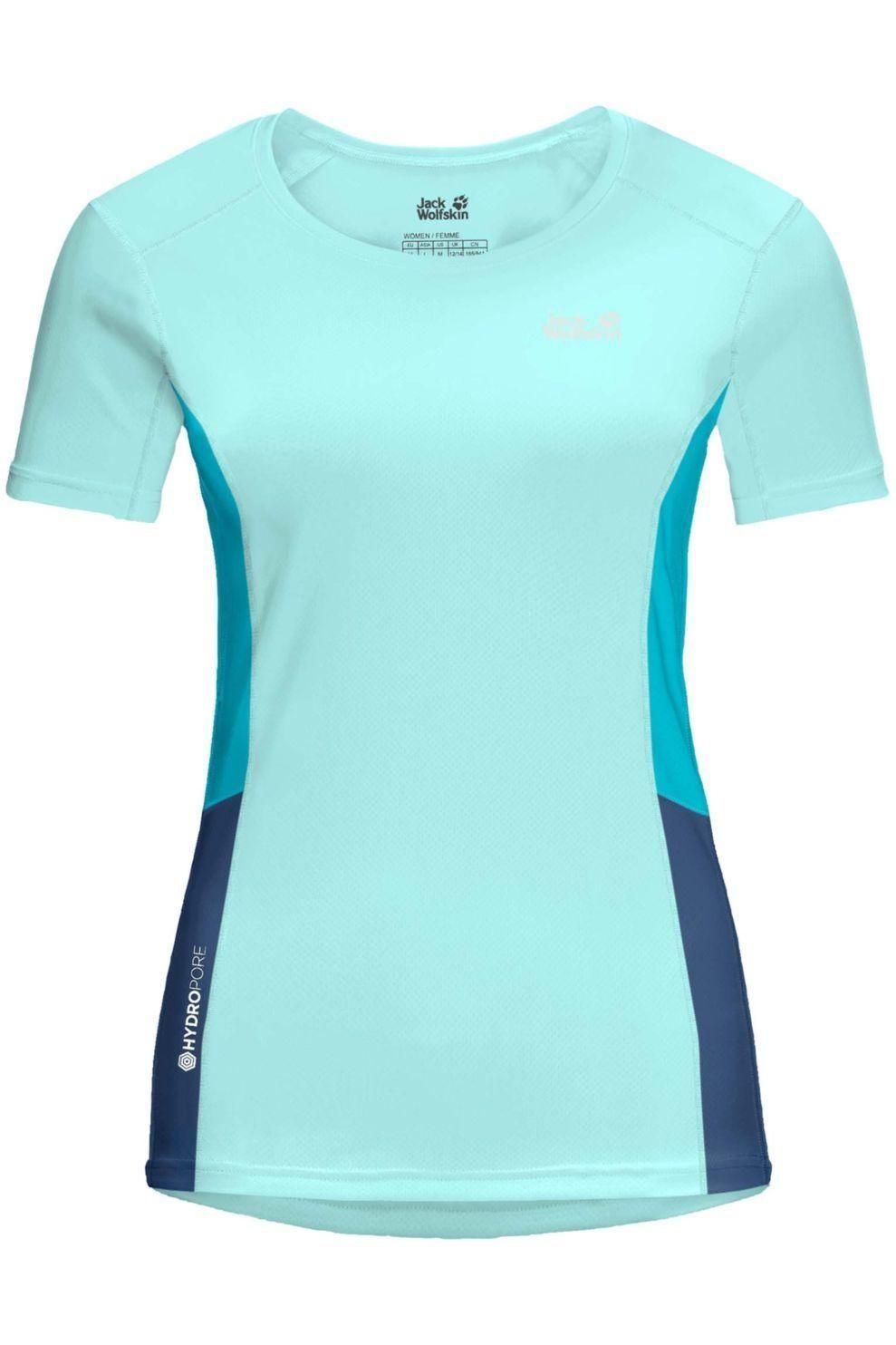 Jack Wolfskin T-Shirt Narrows voor dames - Blauw - Maten: XS, S, M, L, XL, XXL