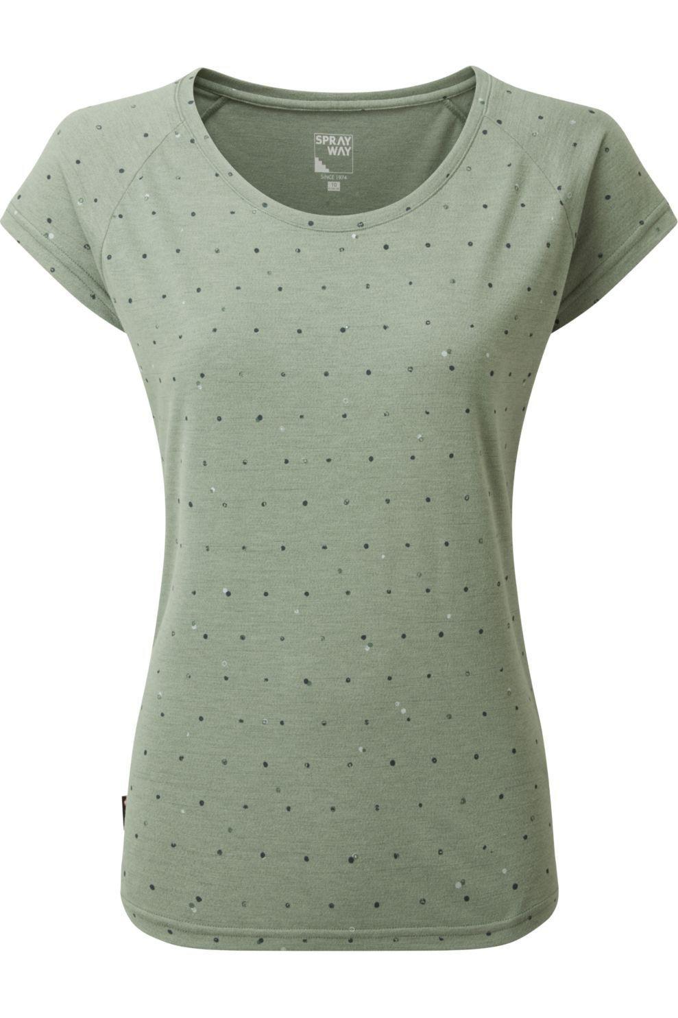 Sprayway T-Shirt Dot voor dames - Groen - Maten: S, M, L, XL