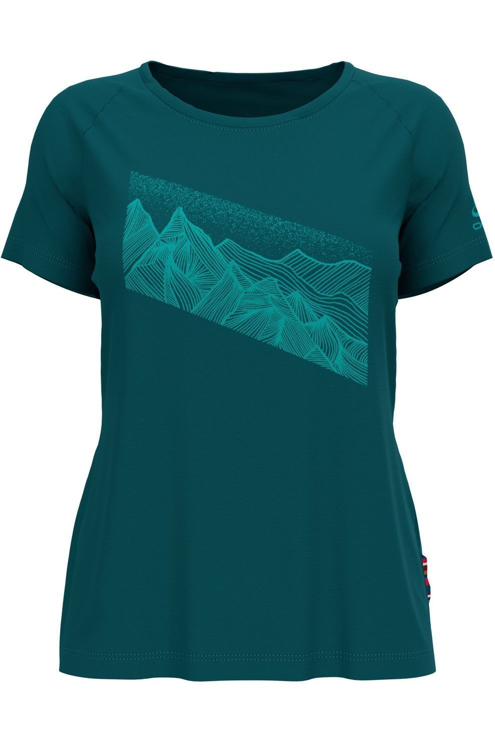 Odlo T-Shirt Concord voor dames - Groen - Maten: XS, S, M, L, XL