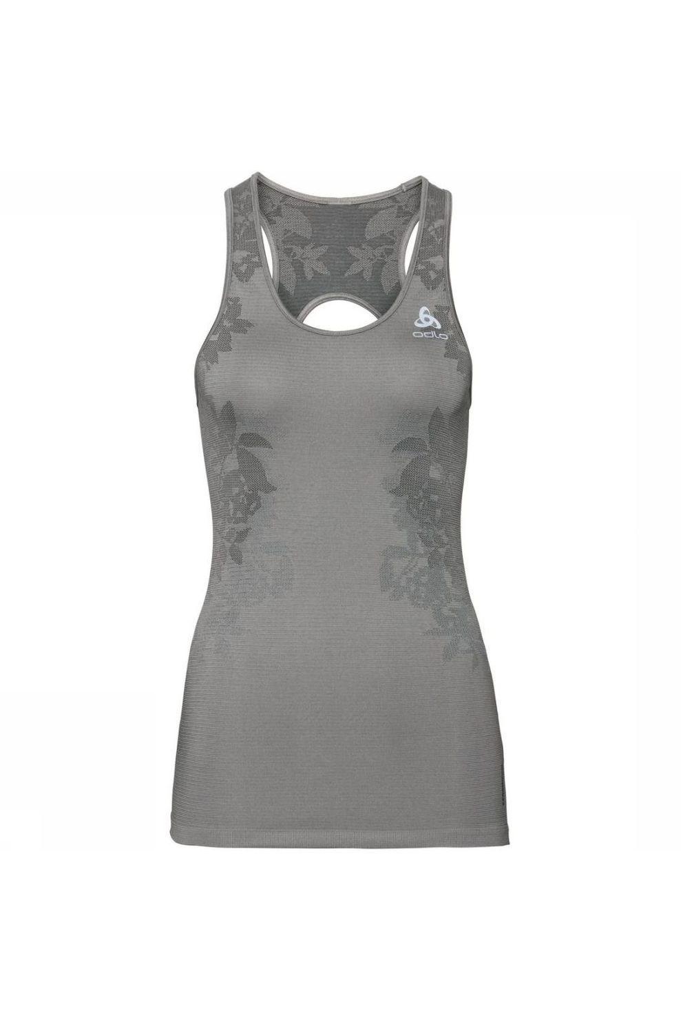 Odlo T-Shirt Ceramicool Blackcomb voor dames - Grijs - Maten: XS, M