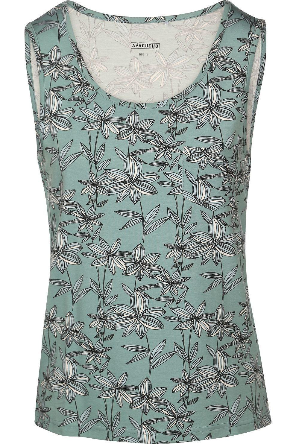 Ayacucho T-Shirt Zambezi Printed voor dames - Blauw - Maten: XS, S, M, L, XL
