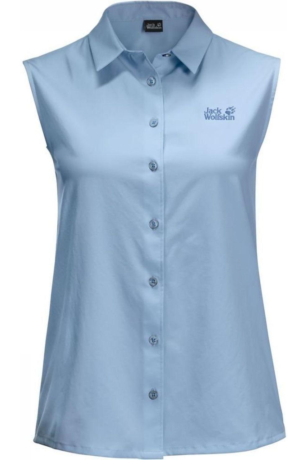 Jack Wolfskin Hemd Sonora Sleeveless voor dames Blauw Maten: XS, S, M, L, XL, XXL
