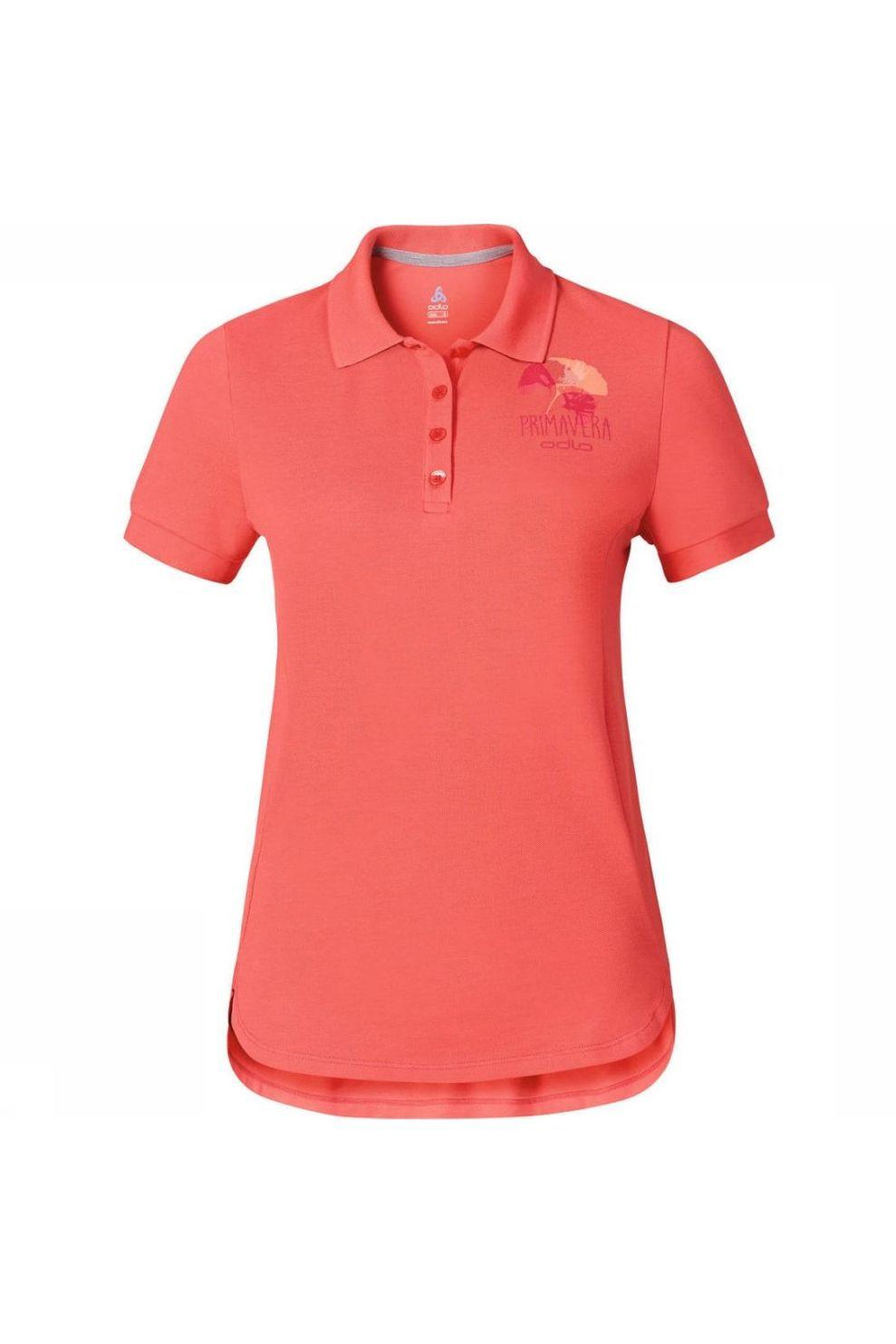 Odlo Polo Polo Shirt S/S Trim Primavera voor dames - Roze - Maten: S, M, L
