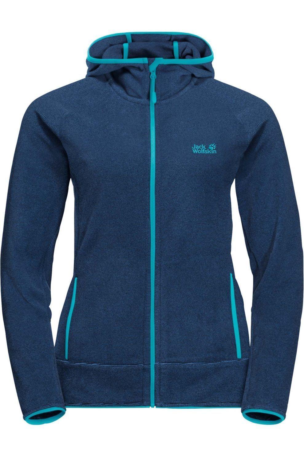 Jack Wolfskin Fleece Arco voor dames Blauw Maten: XS, S, M, L, XL, XXL