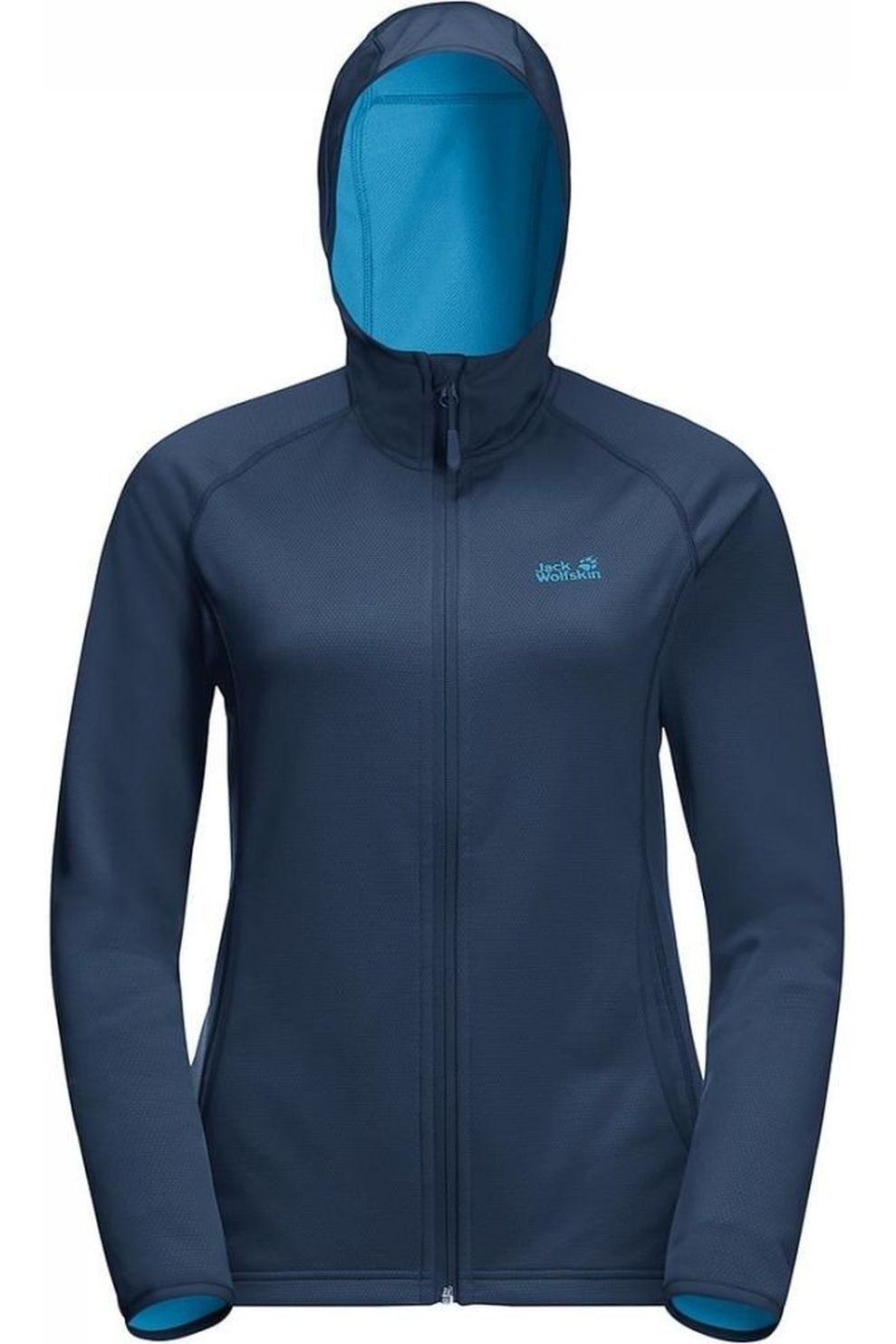 Jack Wolfskin Fleece Star voor dames Blauw Maten: S, M, L, XL