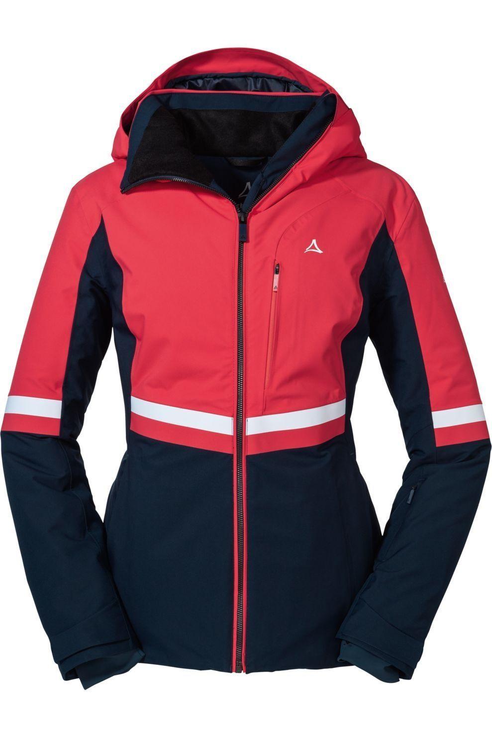 Schöffel Jas Ski Carmenna voor dames - Rood/Blauw - Maten: 38, 40, 42