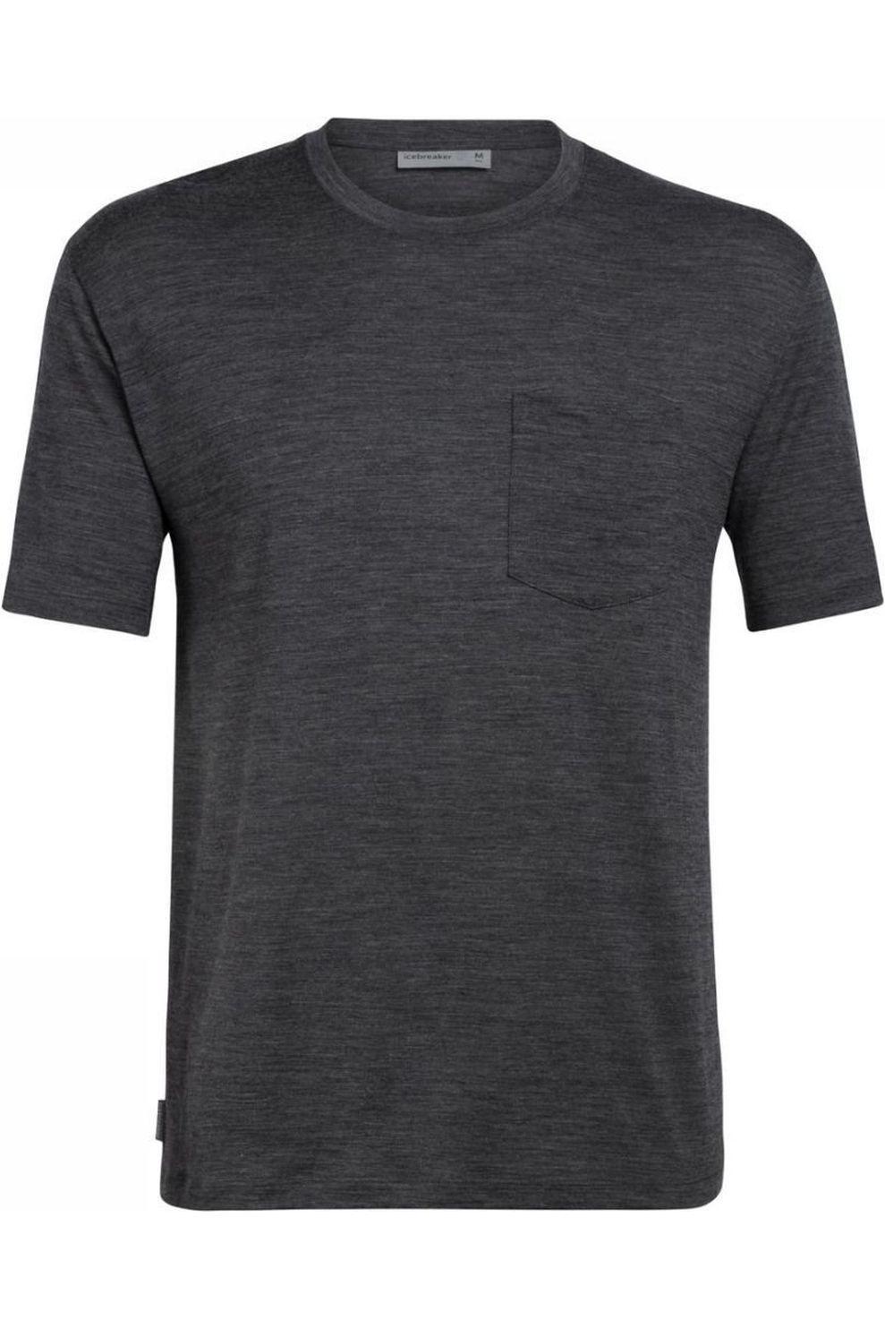 Icebreaker T-Shirt Ice Ravyn Ss Pocket Tee voor heren - Grijs - Maten: S, M, L, XL