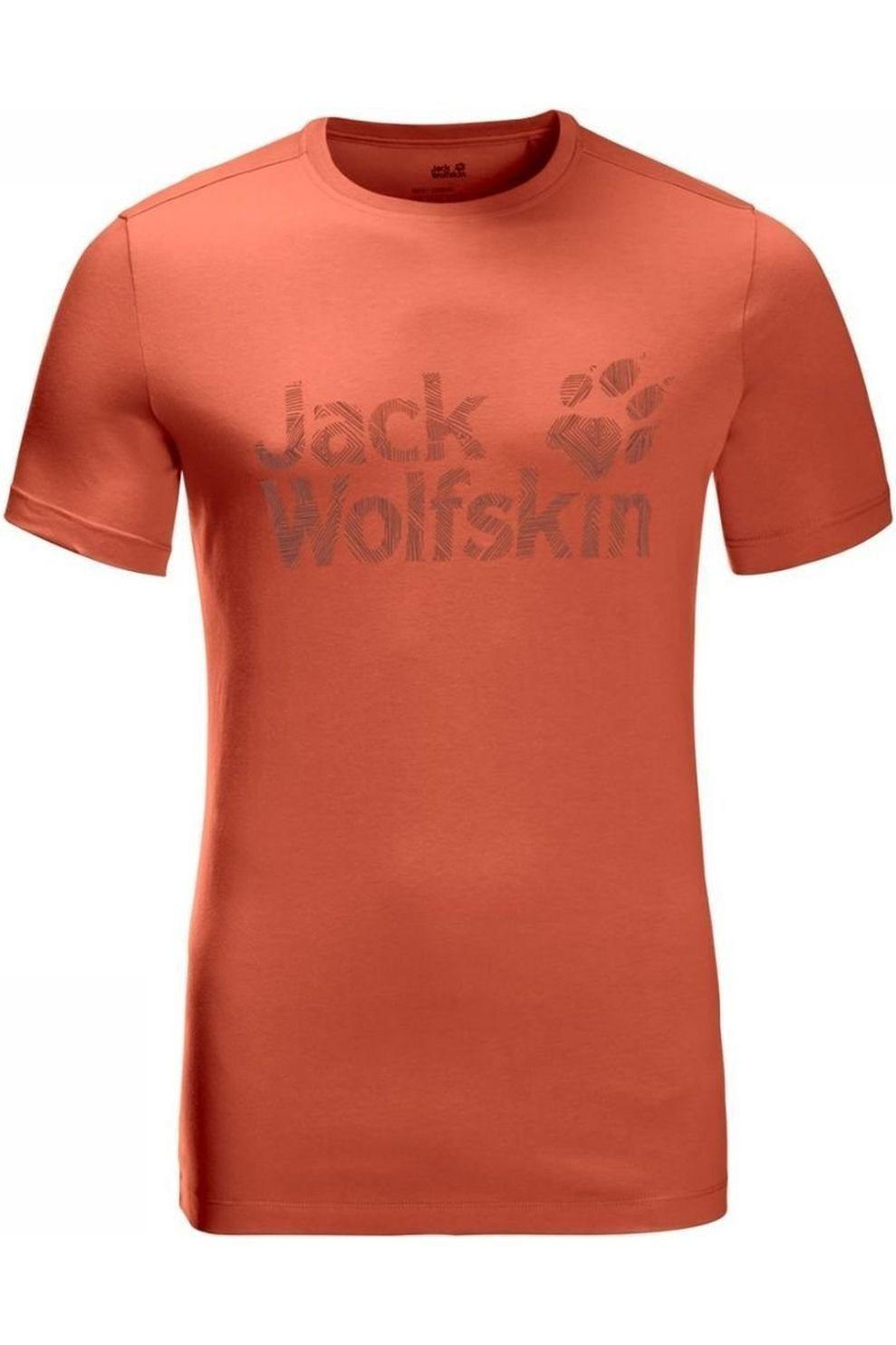 Jack Wolfskin T-shirt Brand Logo T voor heren Bruin Maten: M, L, XL, XXL