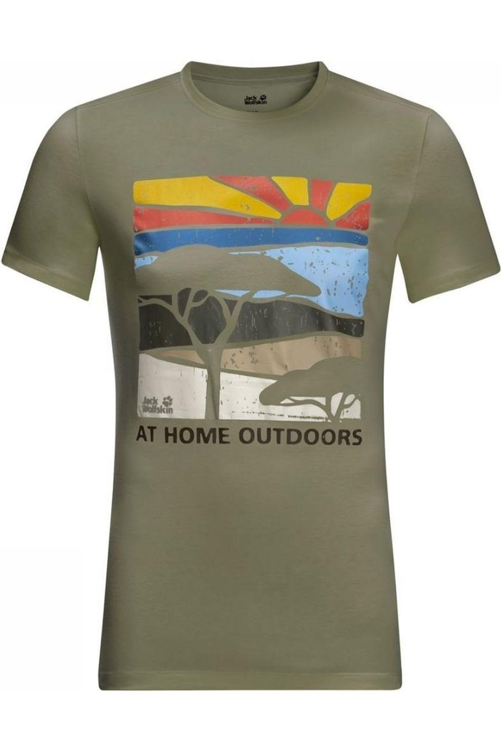 Jack Wolfskin T-Shirt Savannah voor heren - MiddenGroen - Maat: S