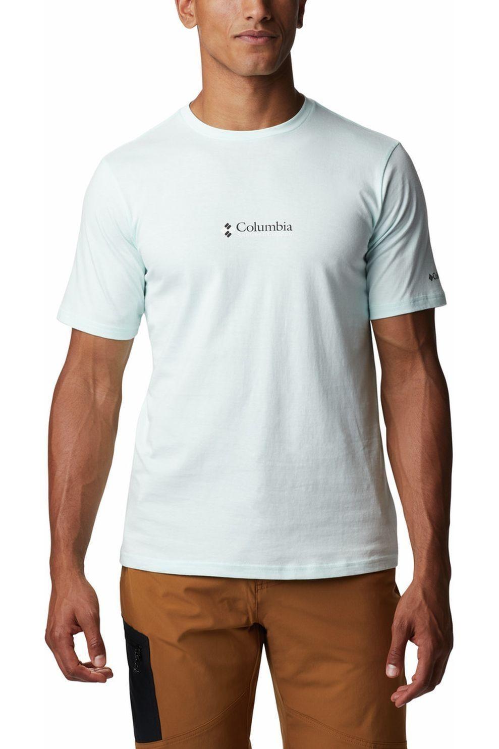 Columbia T-Shirt CSC Basic Logo voor heren - Indigo Blauw - Maten: S, XXL