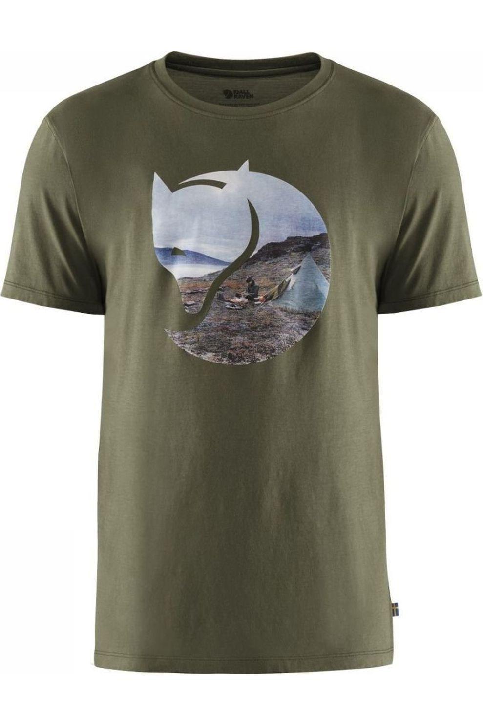 Fjällräven T-Shirt Gädgaureh '78 voor heren - MiddenGroen - Maten: S, M, L, XL, XXL