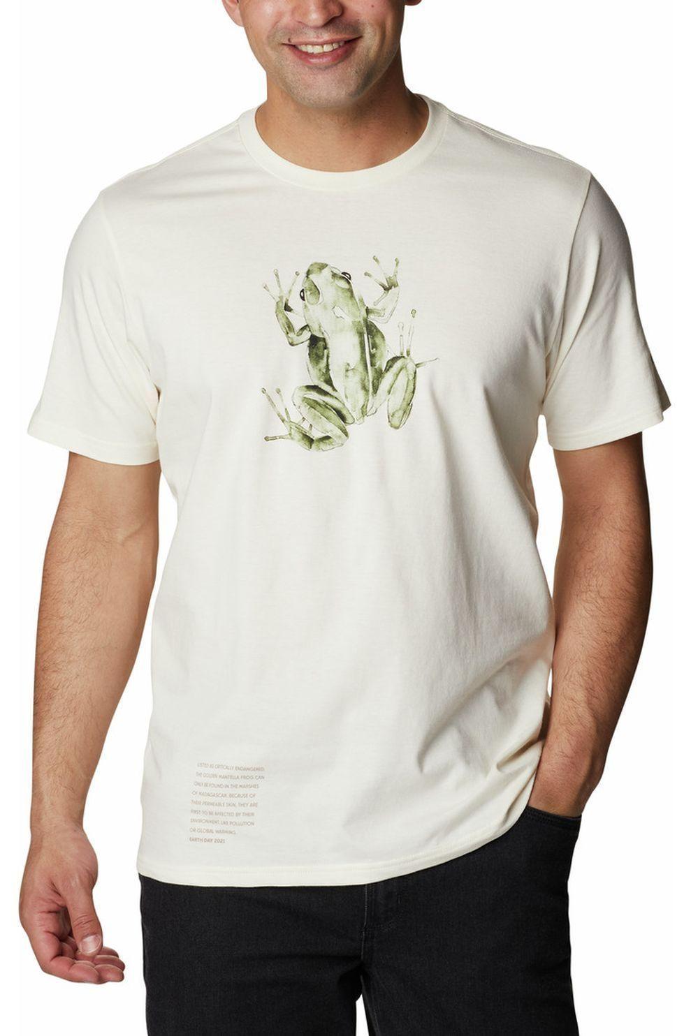 Columbia T-Shirt Clarkwall Organic voor heren - Wit - Maten: M, L, XL, XXL