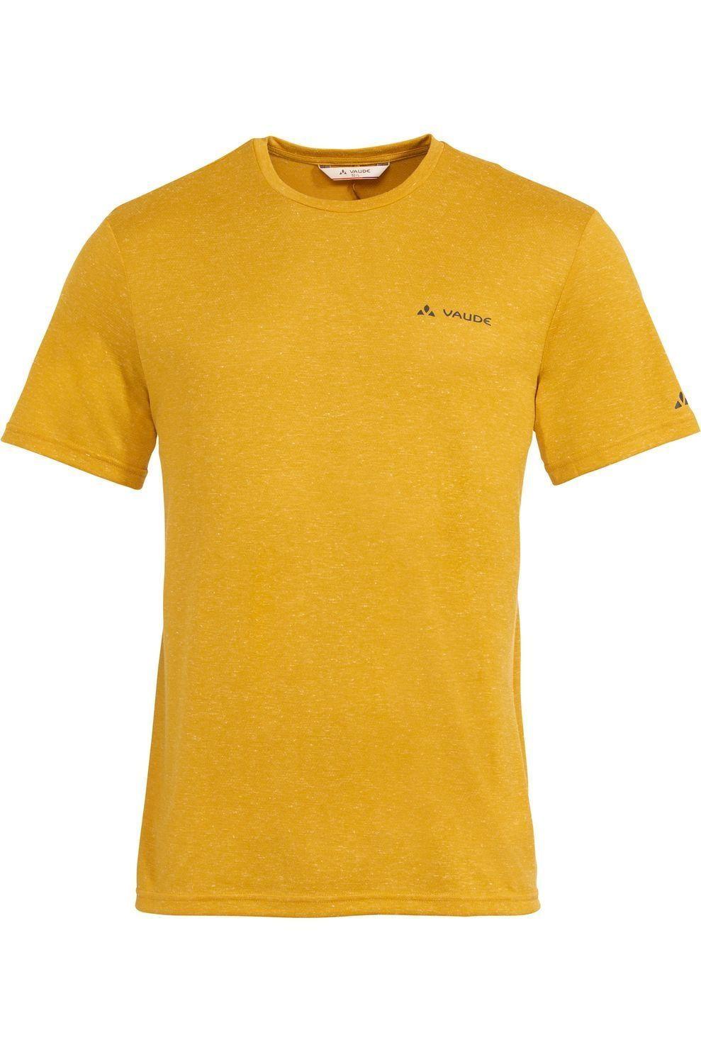 VAUDE T-Shirt Mineo Hemp voor heren - Geel - Maten: M, L, XL, XXL