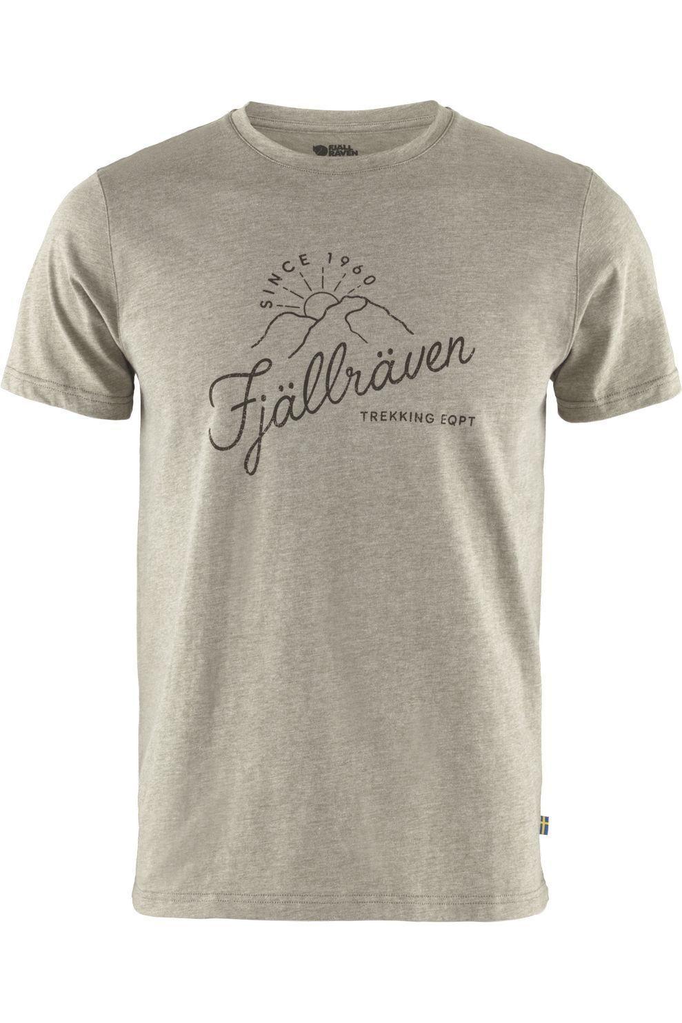 Fjällräven T-Shirt Sunrise voor heren - LichtGroen/Mengeling - Maten: XS, S, M, L, XL, XXL