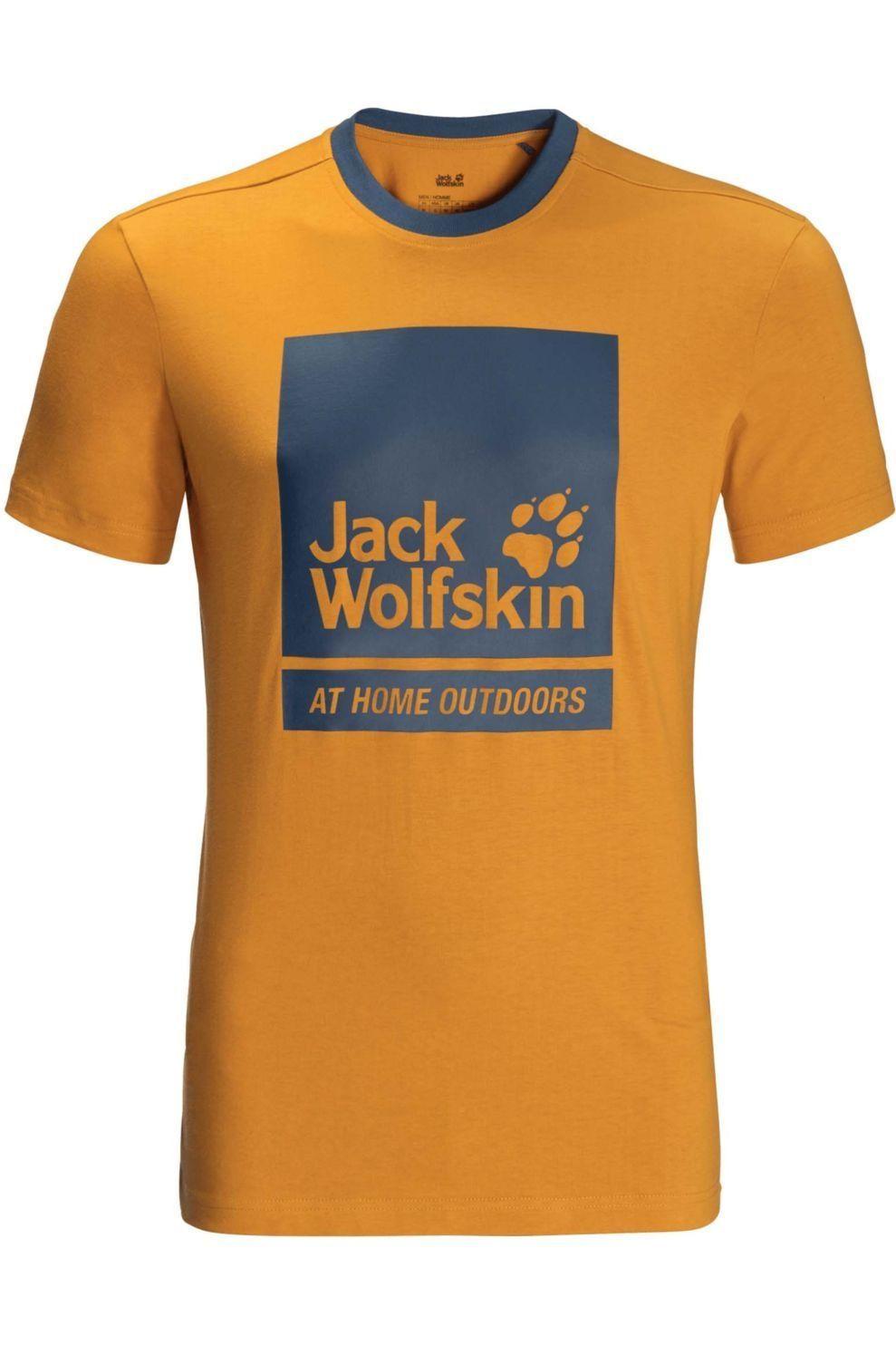 Jack Wolfskin T-Shirt 365 Thunder voor heren - Geel - Maten: S, M, L, XL, XXL, XXXL