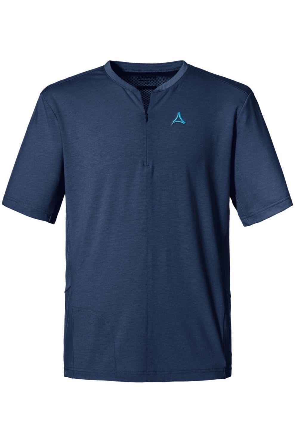 Schöffel T-Shirt Auvergne voor heren - Blauw/Zwart - Maten: 50, 52, 54