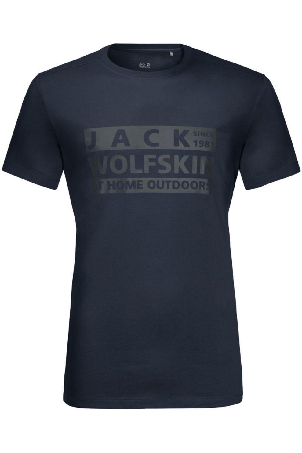 Jack Wolfskin T-Shirt Brand voor heren - Blauw - Maat: L