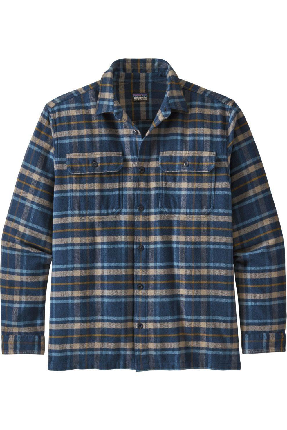 Patagonia Hemd Fjord Flannel voor heren - Blauw/Gemengd - Maten: XS, S, M, L