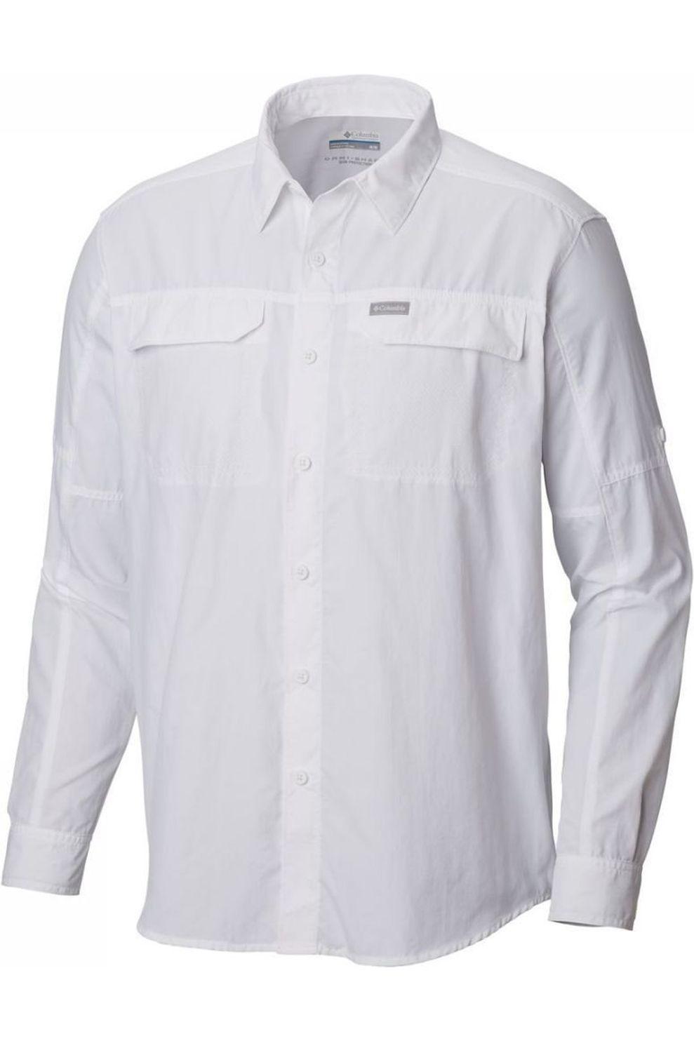 Columbia Hemd Silver Ridge LS voor heren - Wit - Maten: S, M, L, XL, XXL