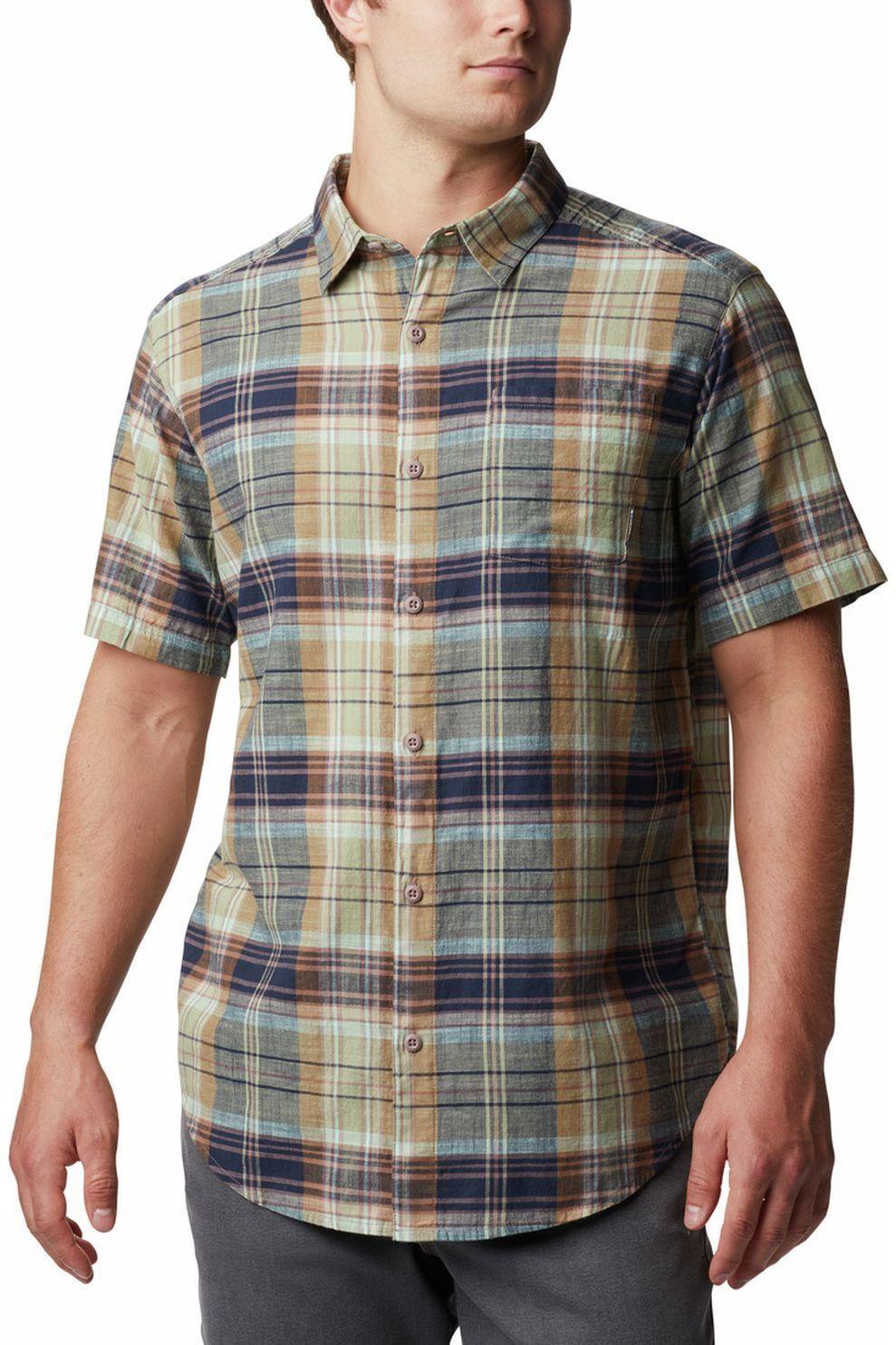 Columbia Hemd Under Exposure Yd voor heren - Blauw/MiddenGroen - Maten: M, L, XL, XXL