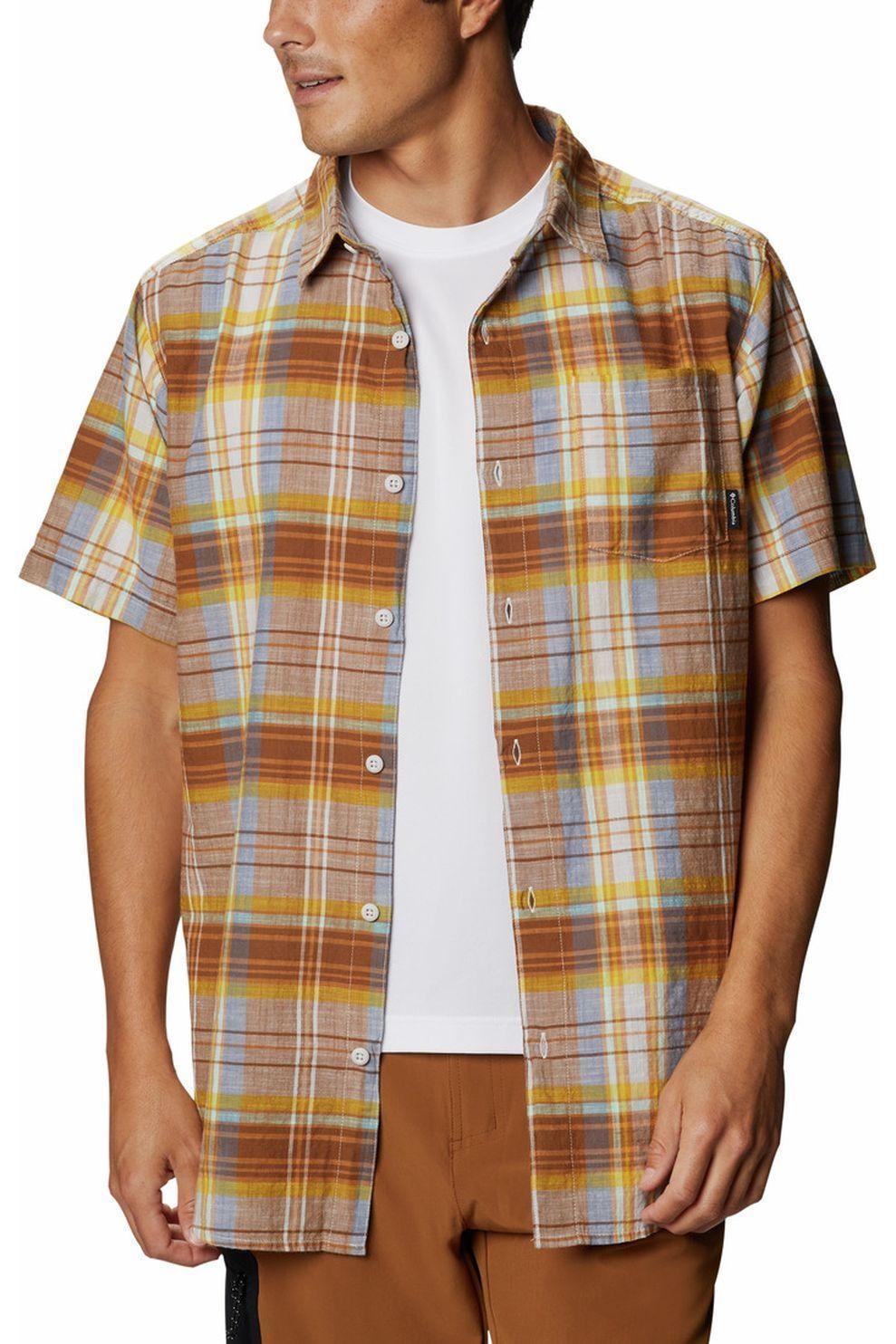 Columbia Hemd Under Exposure Yd voor heren - Bruin/Geschakeerd - Maten: M, XXL