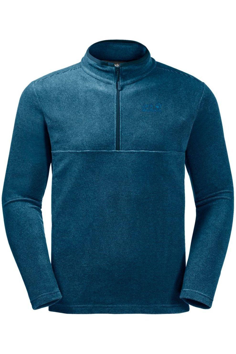 Jack Wolfskin Fleece Arco Half-Zip voor heren Blauw Maten: S, M, L, XL, XXL, XXXL