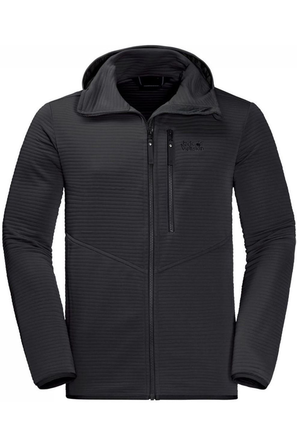 Jack Wolfskin Fleece Modesto Hooded voor heren Zwart Maten: M, L, XL, XXL