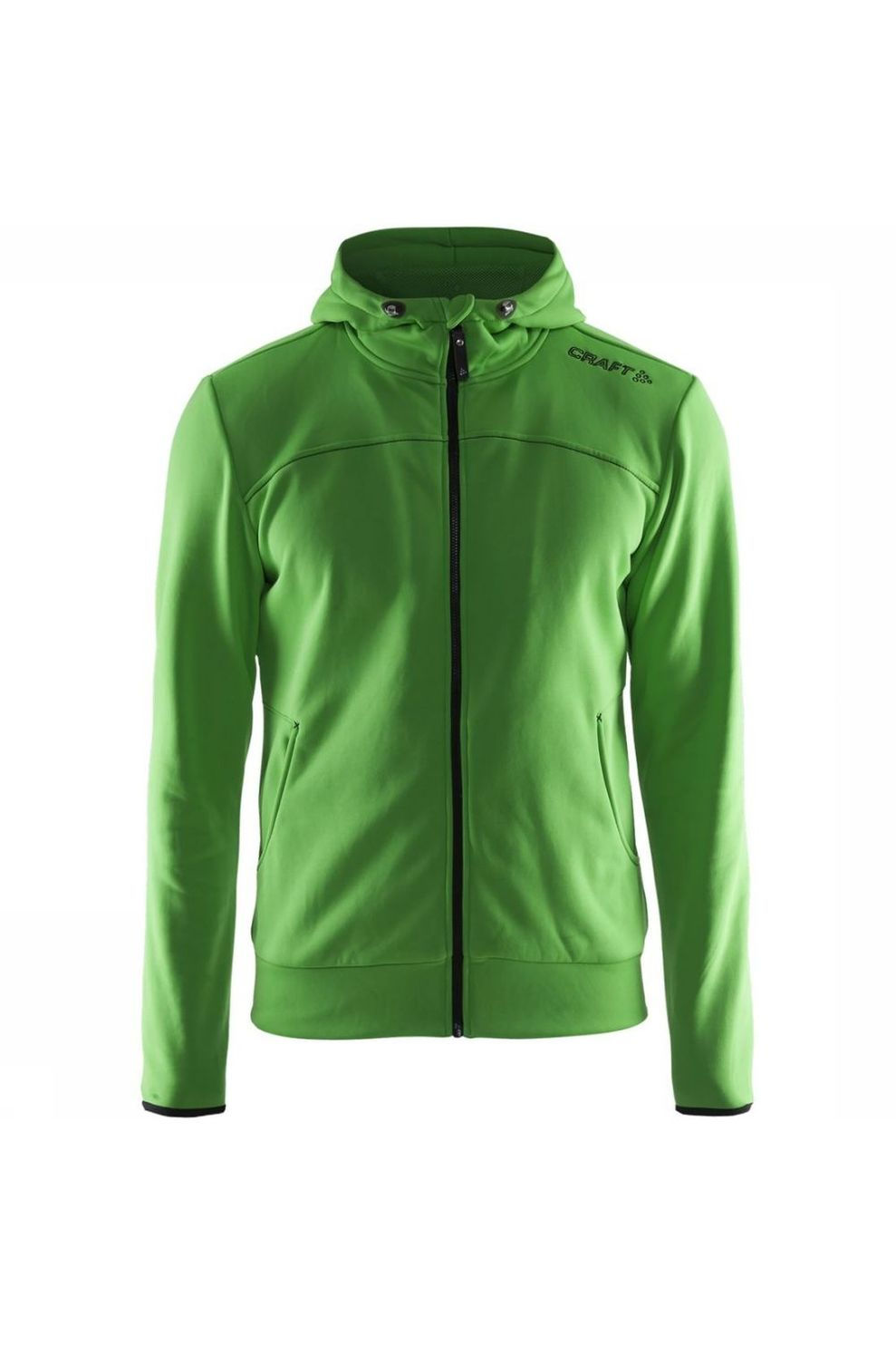 Craft Fleece Leisure F.Z Hood voor heren - Groen - Maten: XS, S, M, L, XL, XXL, XXXL, XXXXL