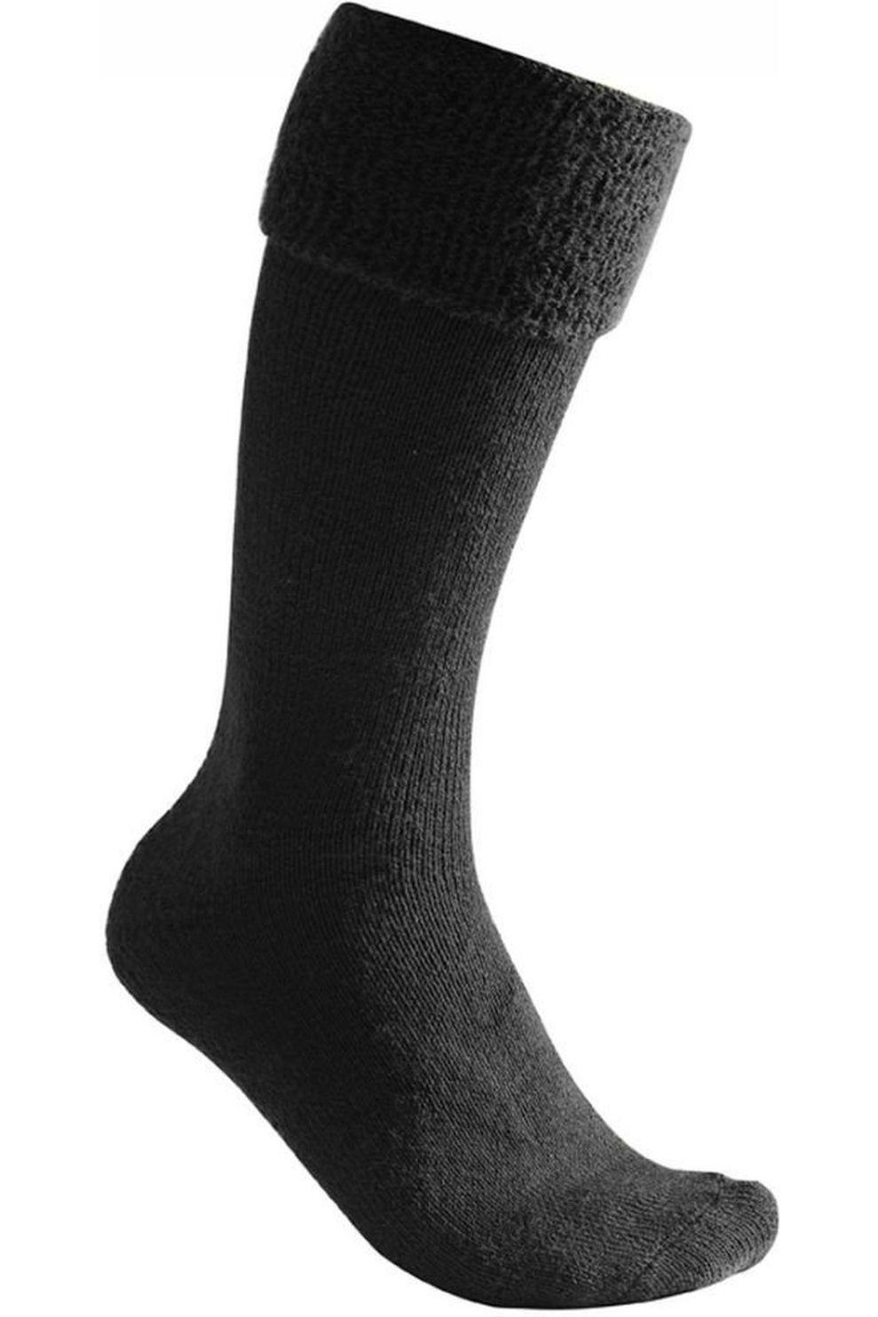 Woolpower Kous Knee-High 600 (very warm everyday sock) - Zwart - Maten: 36/39, 45/48