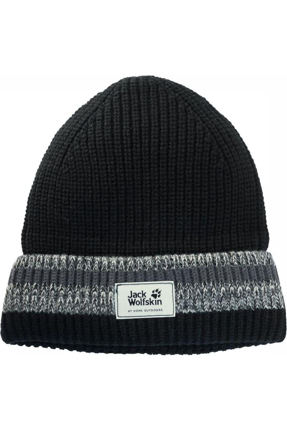 Jack Wolfskin Muts Knit - Zwart - Maat: L