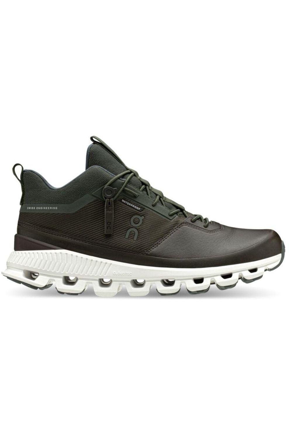 On Running Schoen Cloud Hi Waterproof Men voor heren - Grijs/Wit - Maten: 40, 41, 42, 43, 44, 45, 46