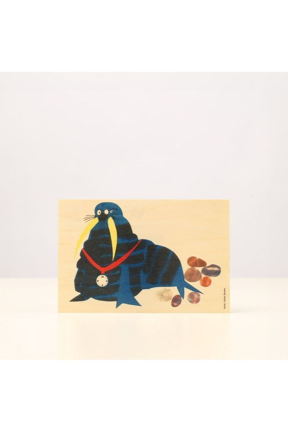 Woodhi Postcard Walrus - Bruin/ Gemengd