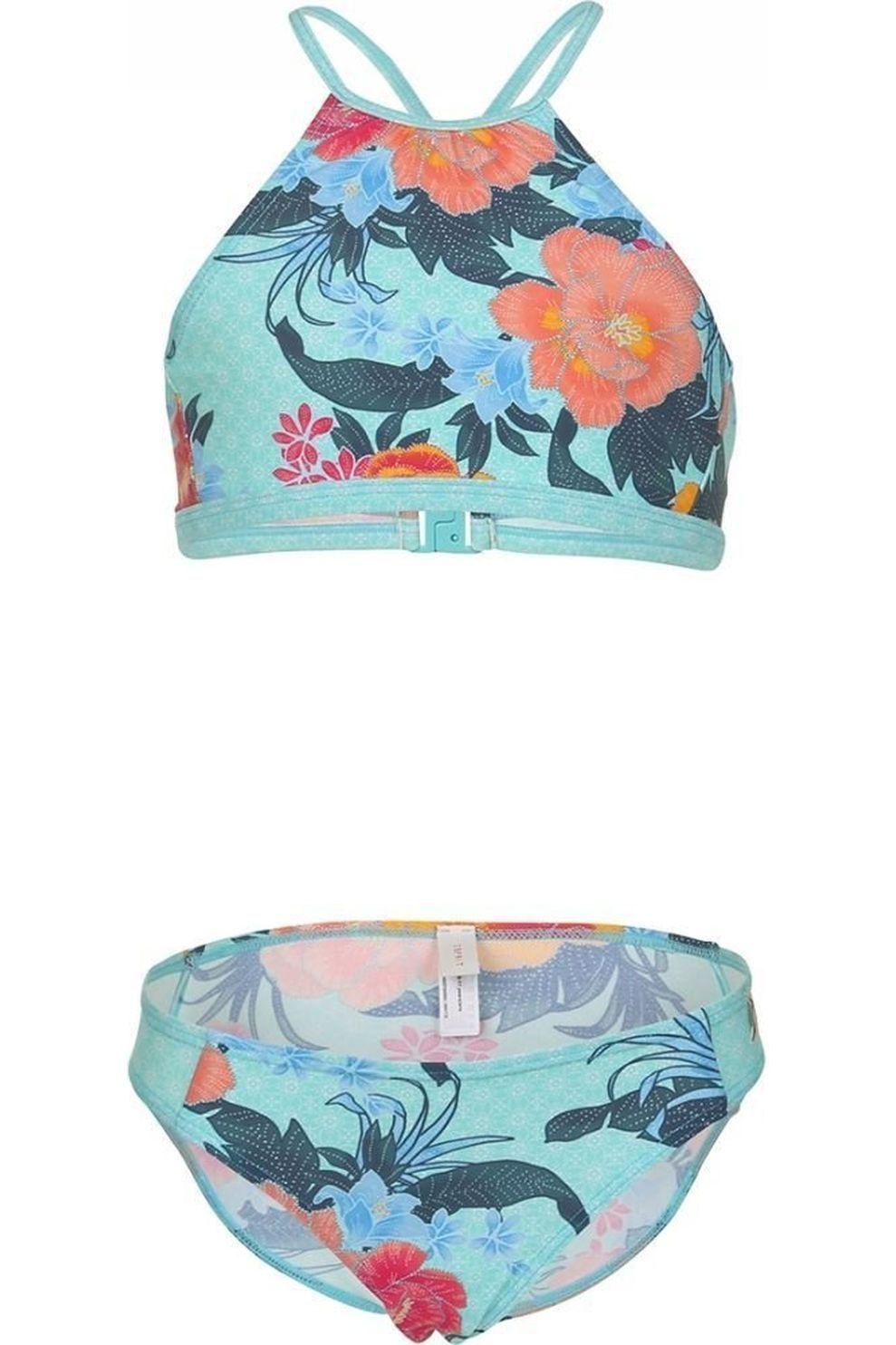 Esprit Bikini Peony Neckholder+Brief voor meisjes - Blauw - Maten: 128, 176