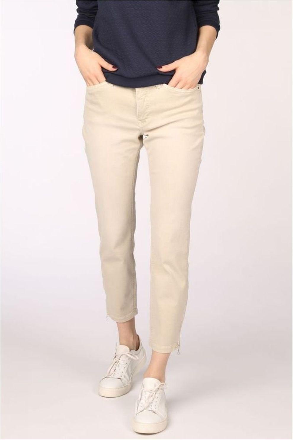 MAC Jeans Dream Chic Zip voor dames - Bruin - Maten: 32, 34, 36, 38, 40, 42