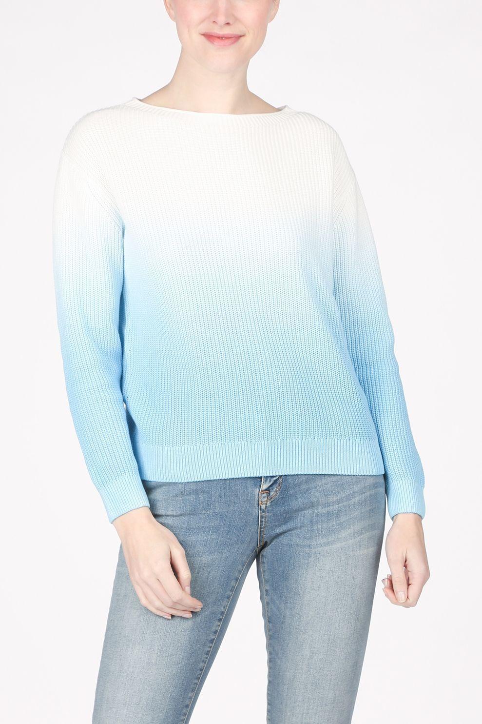 Tom Tailor Trui 1024580 voor dames - Blauw/Wit - Maten: XS, S, M, L, XL