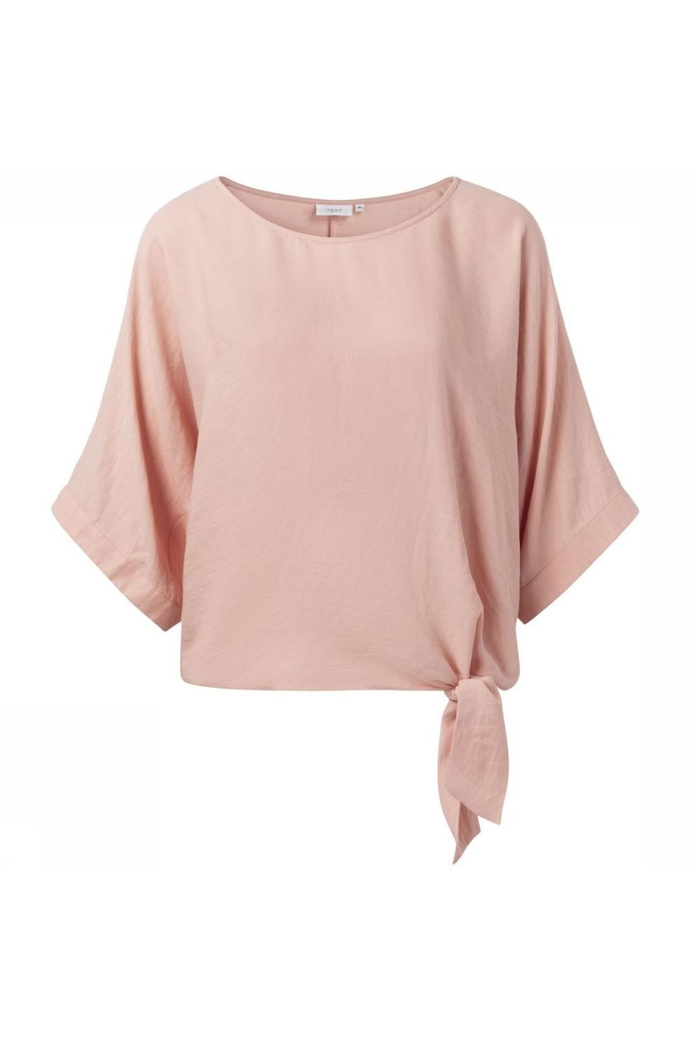 YAYA Blouse Oversized Kimono Sleeves And Knotted Detail voor dames - Roze - Maten: 34, 36, 38, 40, 4