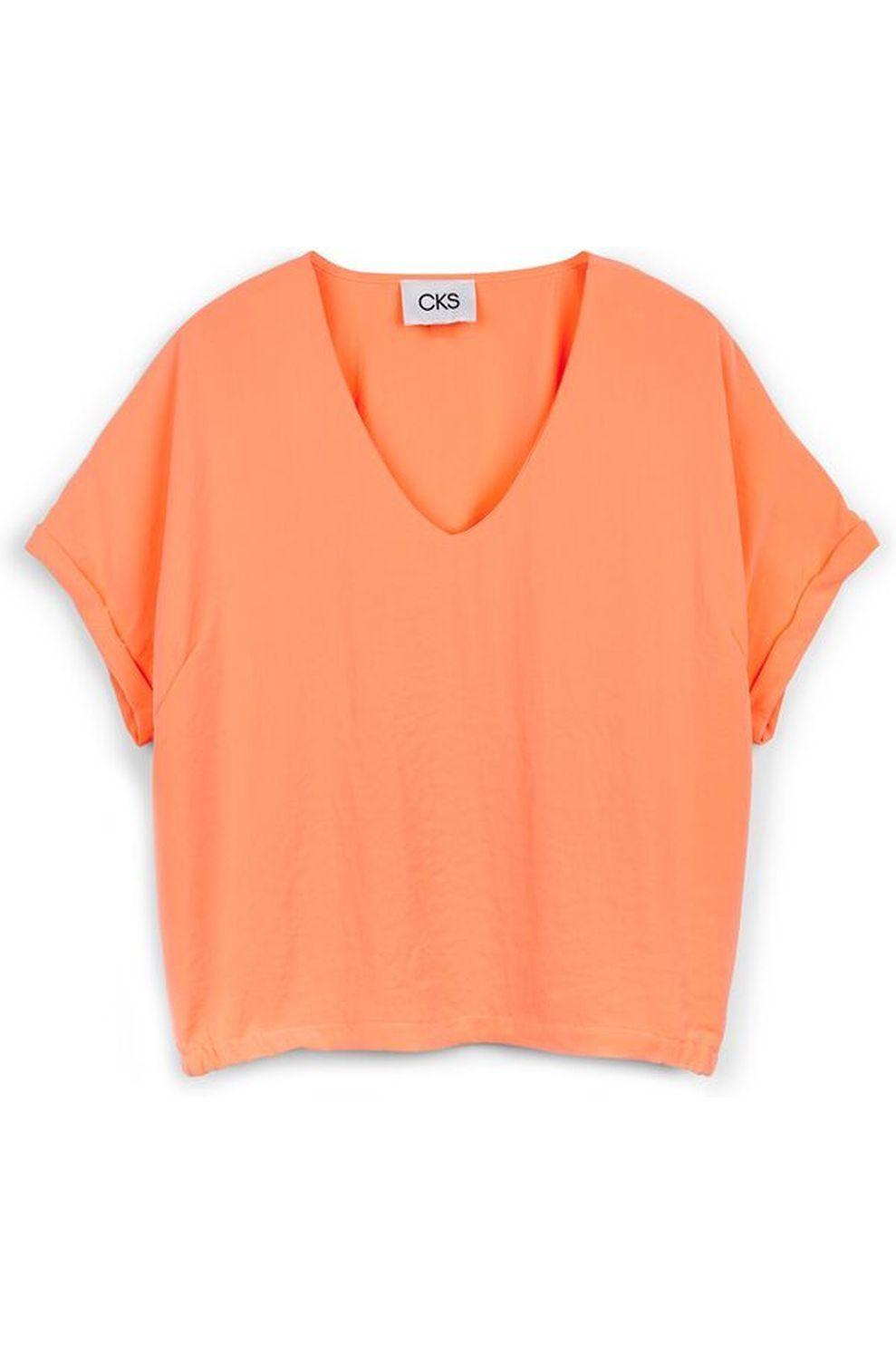 CKS Blouse Ubina voor dames - Oranje - Maten: XS, S, M, L, XL