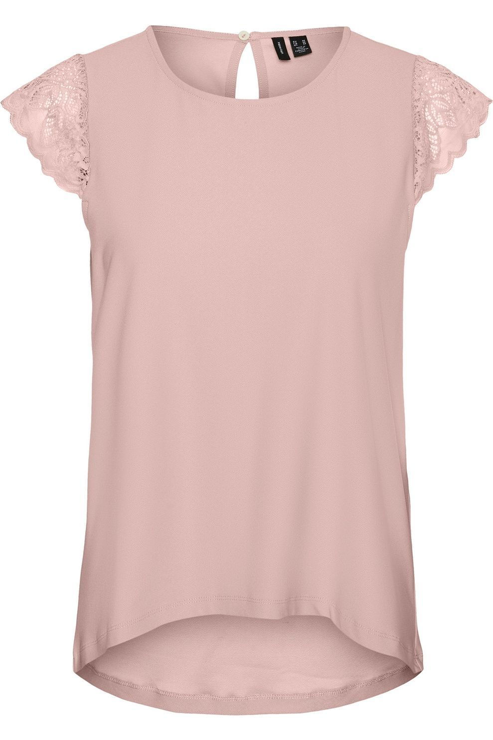 Vero Moda Blouse Vmmilla Cap Sleeve Lace Jrs Ga voor dames - Roze - Maten: XS, S, M, L, XL