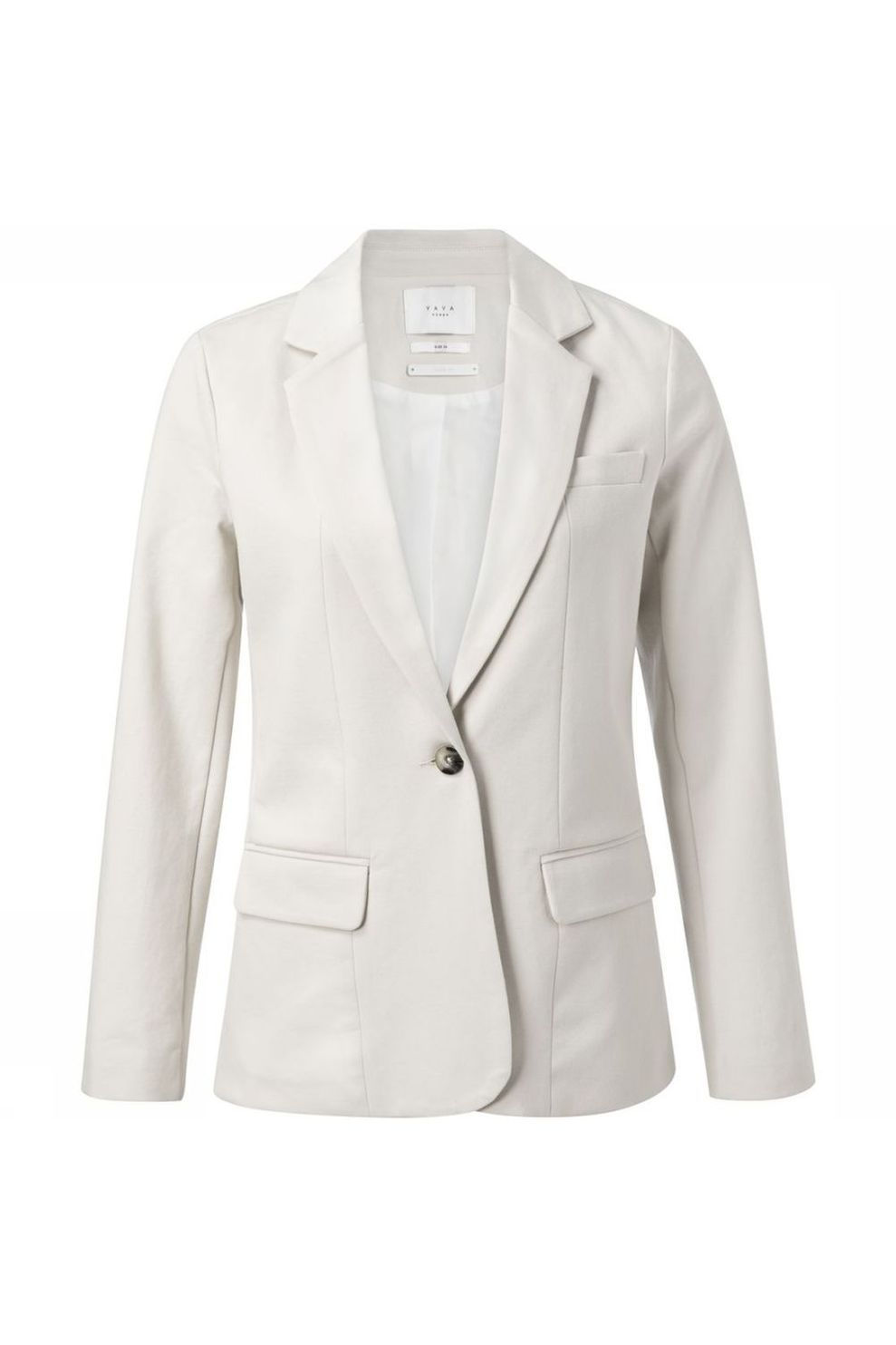 YAYA Blazer Jersey Tailored voor dames - Wit - Maten: 34, 36, 38, 40, 42