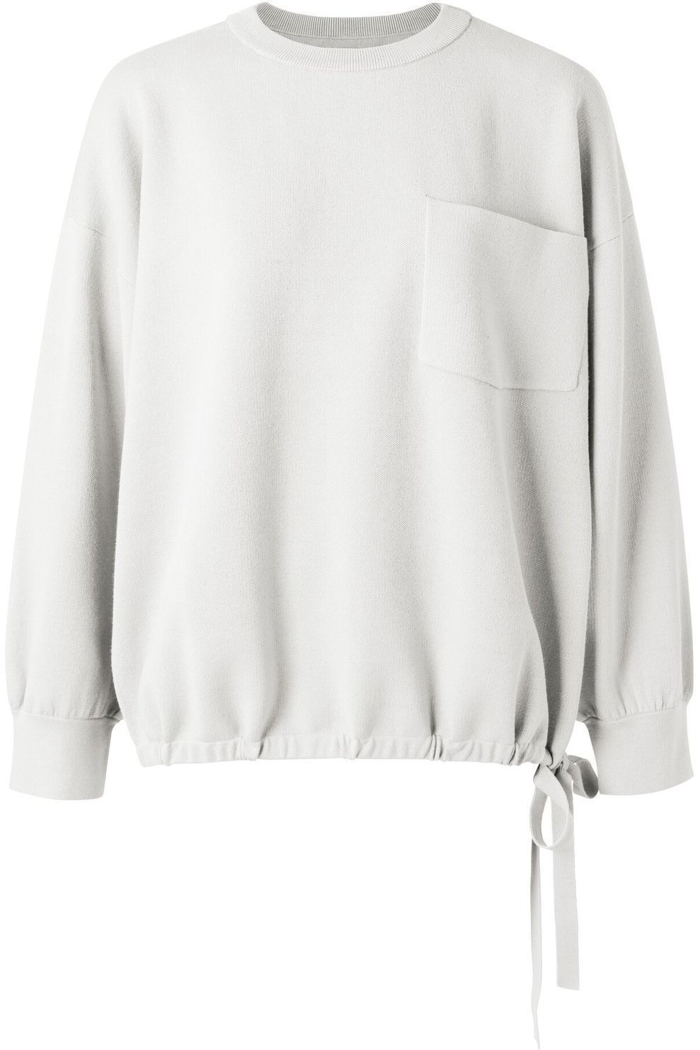 YAYA Trui Boxy With Pocket And Drawstring voor dames - Wit - Maten: 1, 2, 3