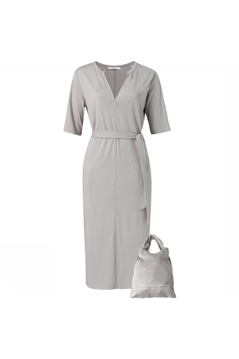 YAYA Jurk Jersey ed Pockets voor dames - Grijs - Maten: XS, S, M, L, XL