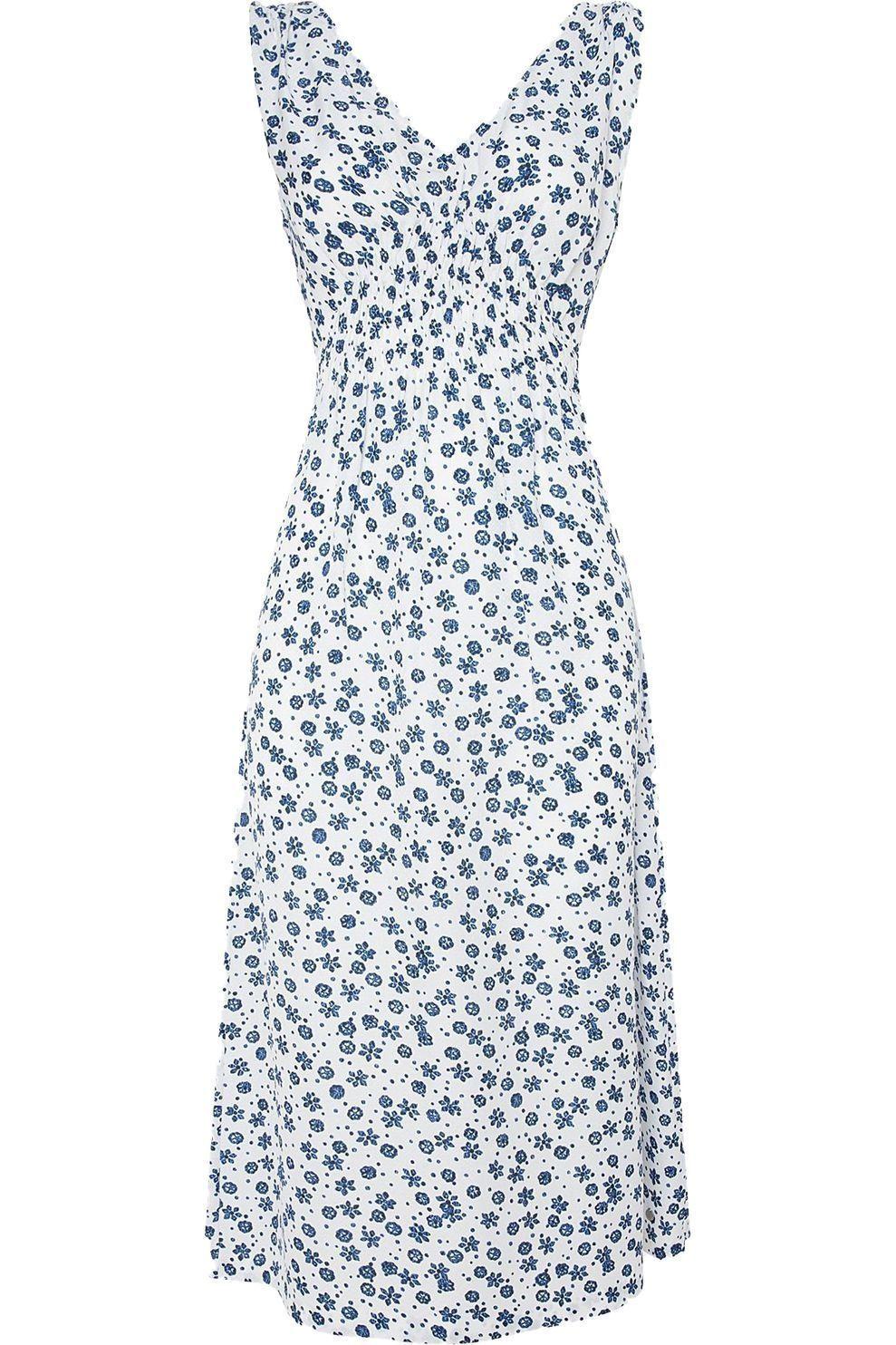 Pepe Jeans Jurk Lou voor dames - Wit/Blauw - Maten: XS, S, M, L, XL