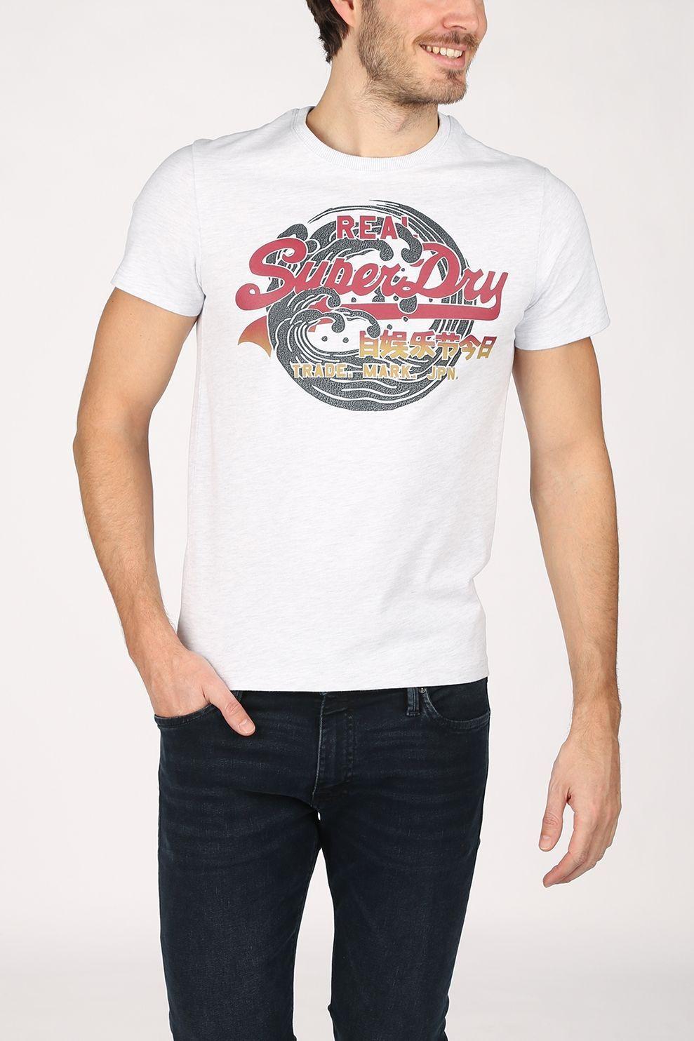 Superdry T-Shirt Vl Itago 220 voor heren - Grijs Mengeling - Maten: S, M, L, XL, XXL