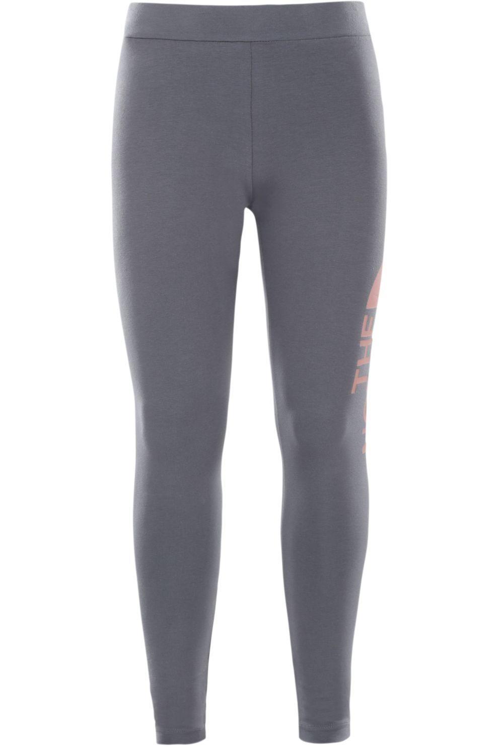 The North Face Broek Cotton Blend Legging voor meisjes - Grijs/Zwart - Maten: L, XL