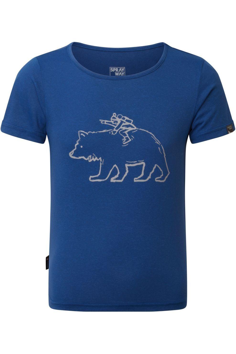 Sprayway T-Shirt Bertie Bear voor kids - Blauw - Maten: 4, 6, 8, 10