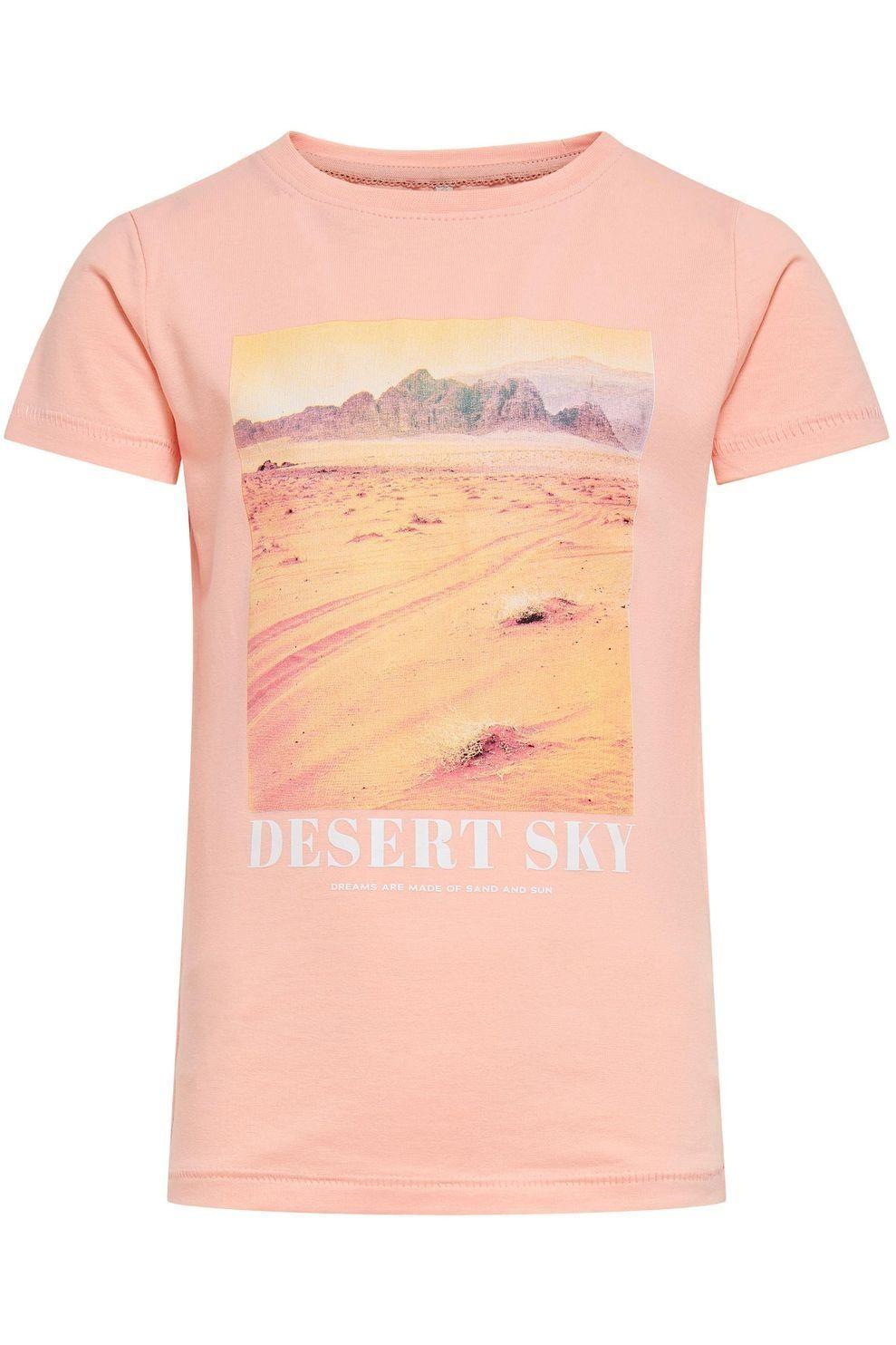 Kids Only T-Shirt Konlala Life S/S Fitted Box Jrs voor meisjes - Roze - Maten: 128, 140, 152, 164
