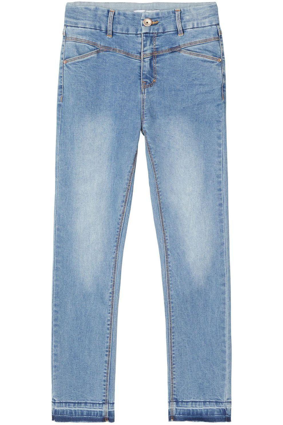 NAME IT Jeans Nkfsalli Dnmtrillas 2460 Hw An Noos voor meisjes - Denim - Blauw - Maten: 116, 122, 12