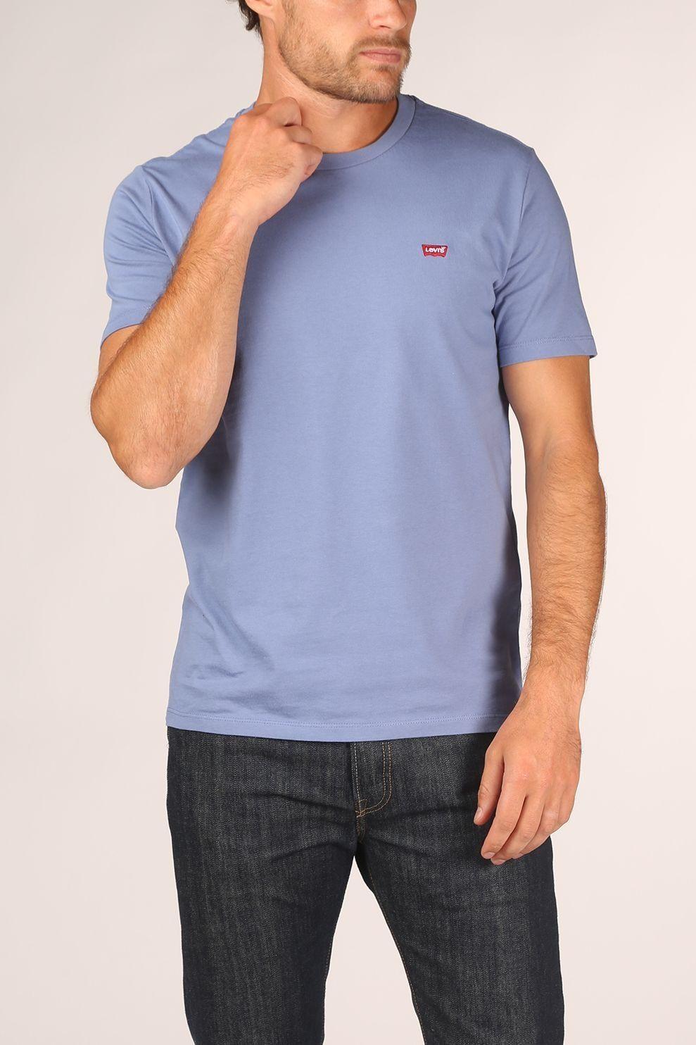 Levi's T-Shirt Ss Original Hm Tee voor heren - Blauw - Maten: XS, S, M, L, XL, XXL