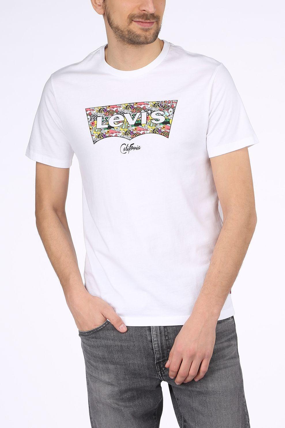 Levi's T-Shirt Housemark Graphic voor heren - Wit - Maten: XS, S, M, L, XL, XXL