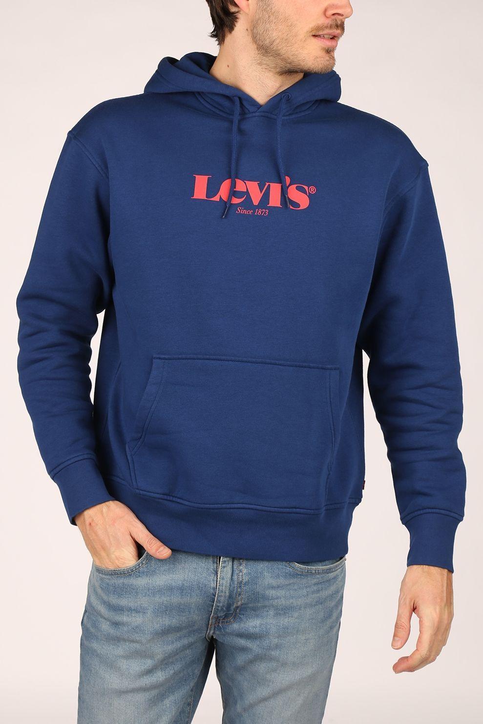 Levi's Trui T3 Relaxd Graphic Hoodie voor heren - Blauw - Maten: S, M, L, XL